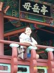 Lonna at a Korean Pagoda