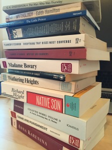 Stack of Classic Books