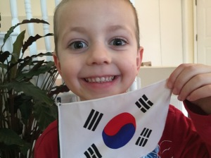 Boy with Korean Flag
